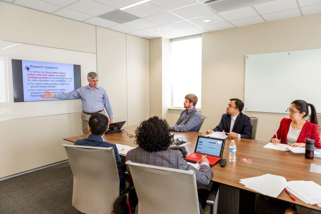 Professor Holden teach in a classroom