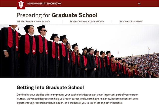 Preparing for Graduate School Website Homepage