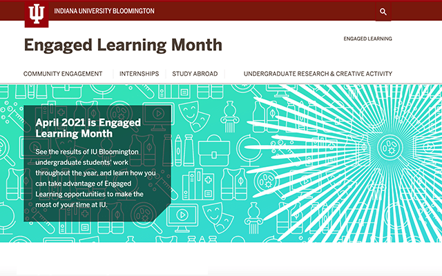 Engaged Learning Month Website Screenshot