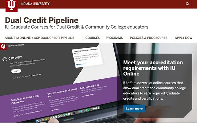 Dual Credit Pipeline Website Screenshot
