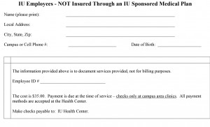 Microsoft Word - 2015 FLU SHOT - For Employees Not On an IU Medi