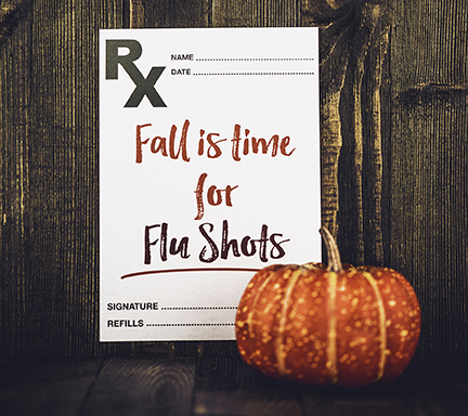 Preventative healthcare. Fall is time for Flu Shots
