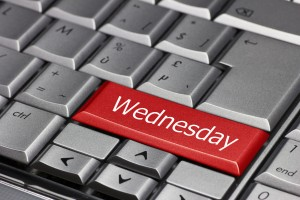 Computer key - days of the week Wednesday