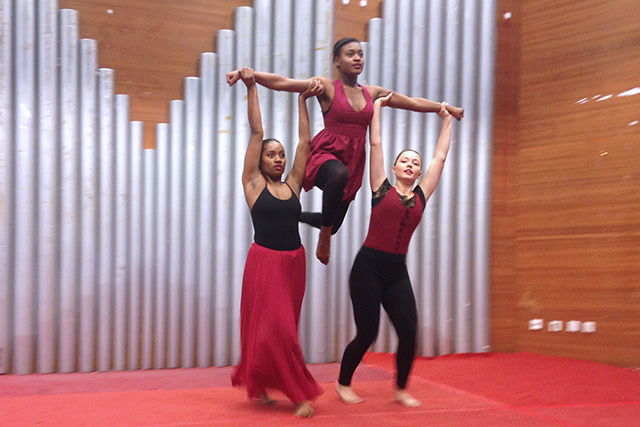 AADC dancers performed their student choreographic pieces that they created during fall semester at IU. Students select their own music, costumes, movements, and concept for this project.