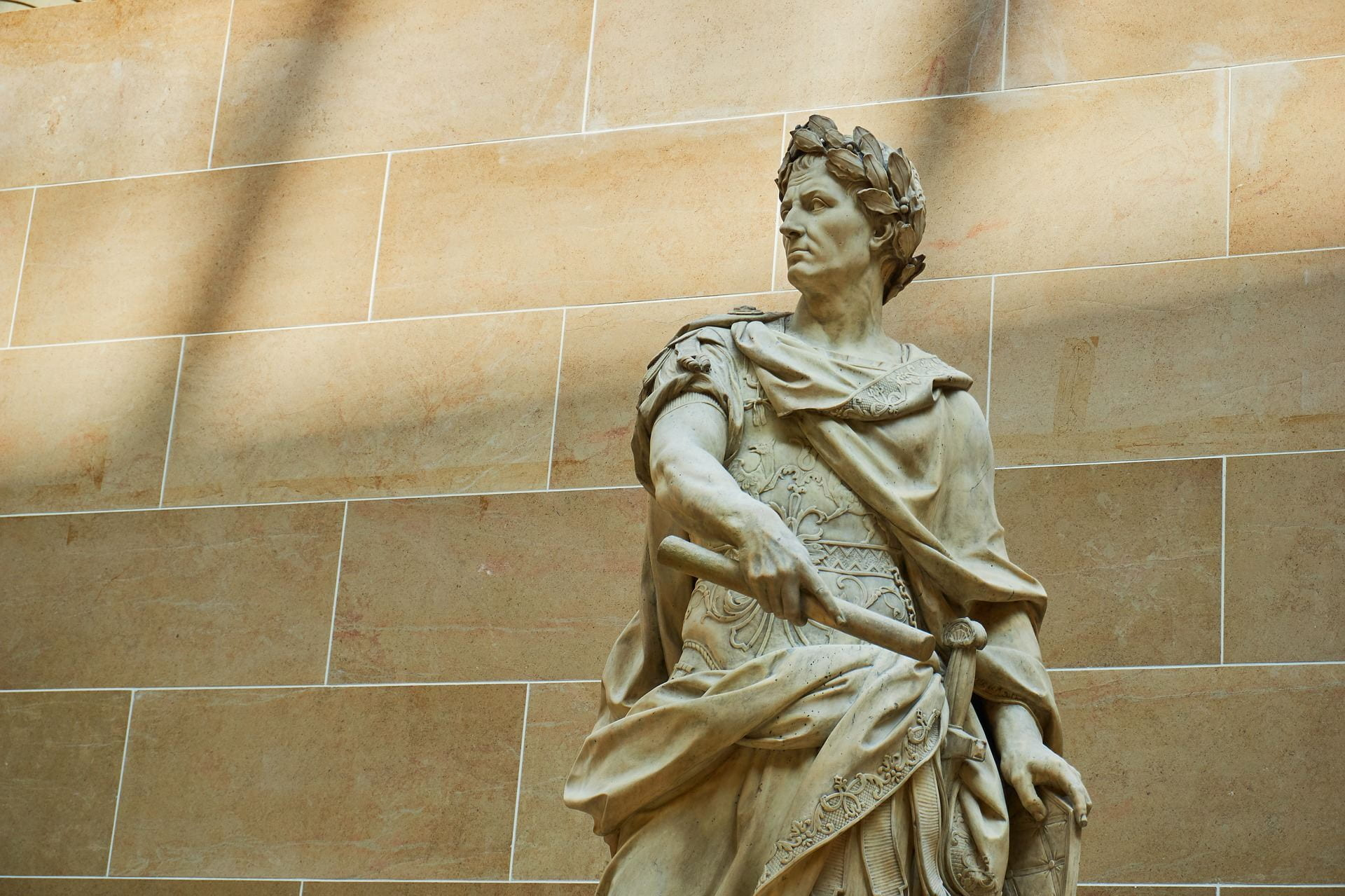Pictured is the Julius Caesar statue in the Louvre.