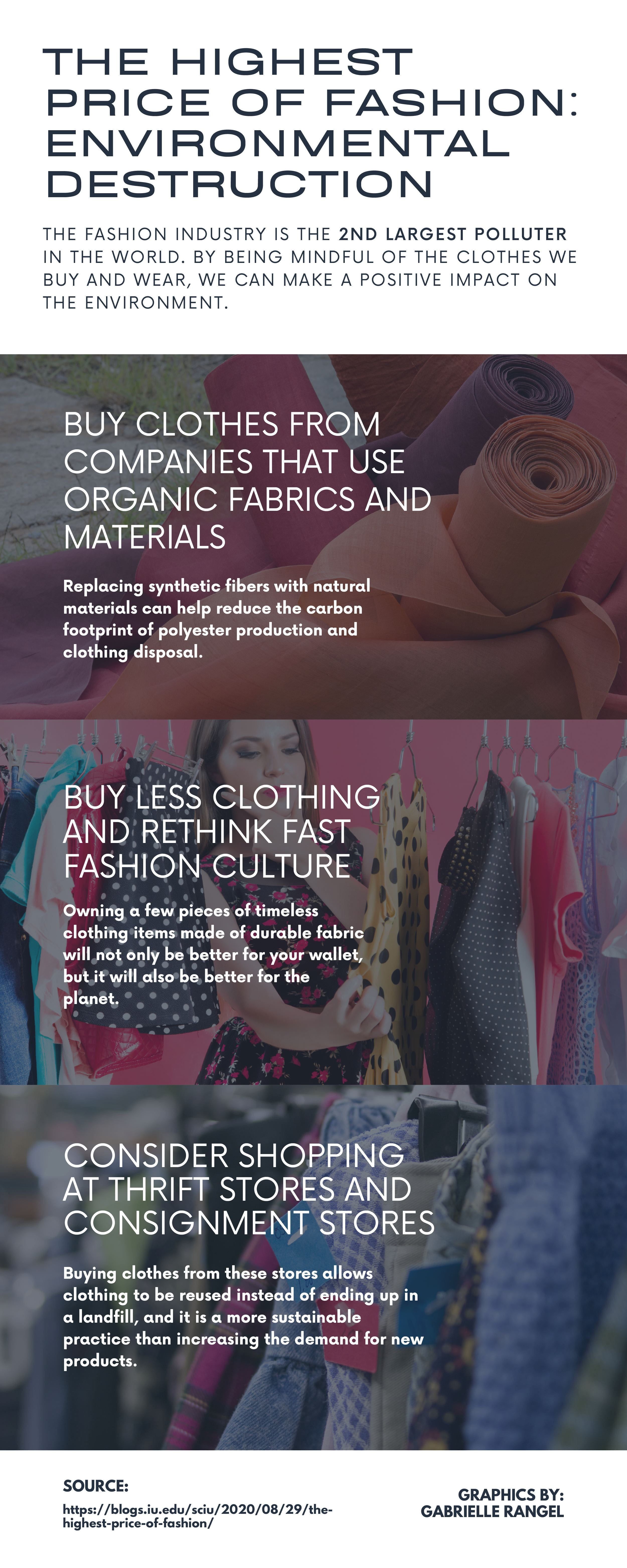 [infographic about environment friendly fashion. to read the original post go to https://blogs.iu.edu/sciu/2020/08/29/the-highest-price-of-fashion/]