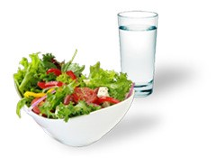 Salad with water