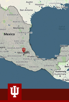 Map of the president's trip to Mexico