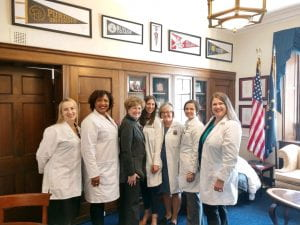 Dr. Abernathy and colleagues meet with Representative Susan Brooks in Washington, D.C..