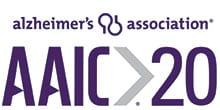 A logo that reads: Alzheimer's Association AAIC 20.