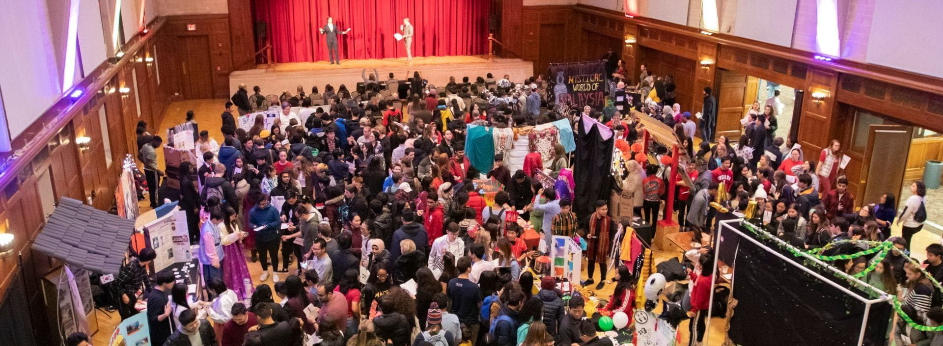 Students gathered for World's Fare on November 15th