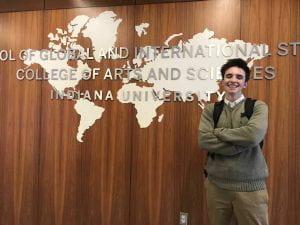 McAndrews in-between class at the Hamilton Lugar School