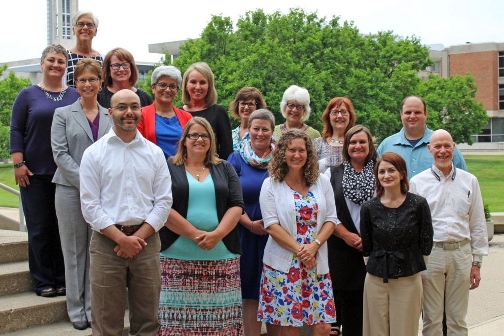 The Summer 2017 cohort of IU Executive Education's Effective Nonprofit Governance:<br /> Row 1: Blake Johnson, Angie Sander, Andrea Vrobel, Amy Casavant<br /> Row 2: Linda Webb, Shalu Manchanda, Lori Del Vecchio, Amanda Leffler, Andy Black (Instructor)<br /> Row 3: Jennifer Funk, Sara Johnson (Exec Ed), Donna Haggard, Mary Anna Weber (Instructor), Karra Heggen, Margaret Ahearn (Exec Ed), Sharon Springer, Garrett Hedeen