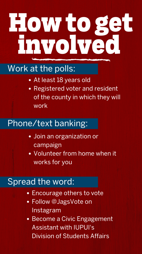 graphic on how to get involved in encouraging voters