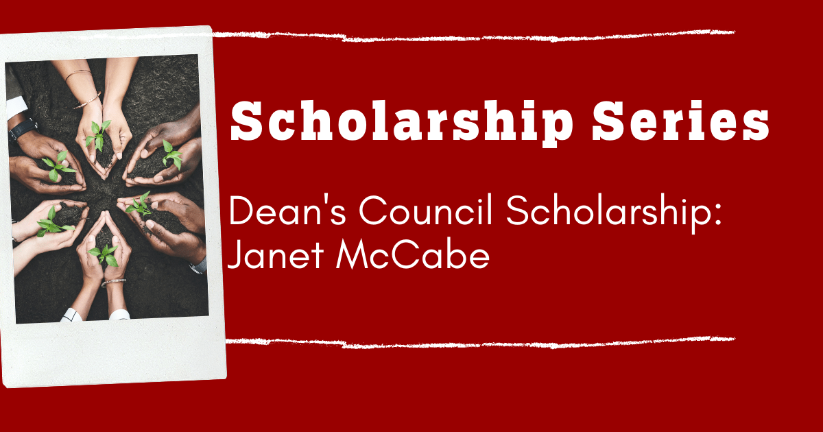 Graphic that says Dean's Council Scholarship