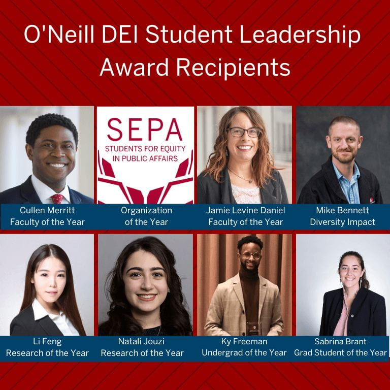 grid photo of DEI Award recipients