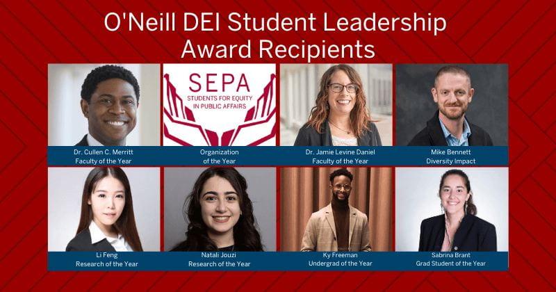 Grid photos of award recipients