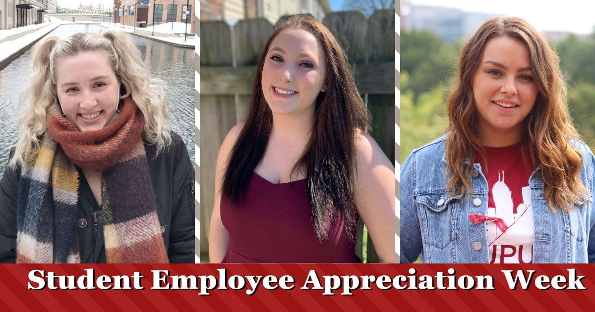 Headshots of three women and text that says Student Employee Appreciation Week