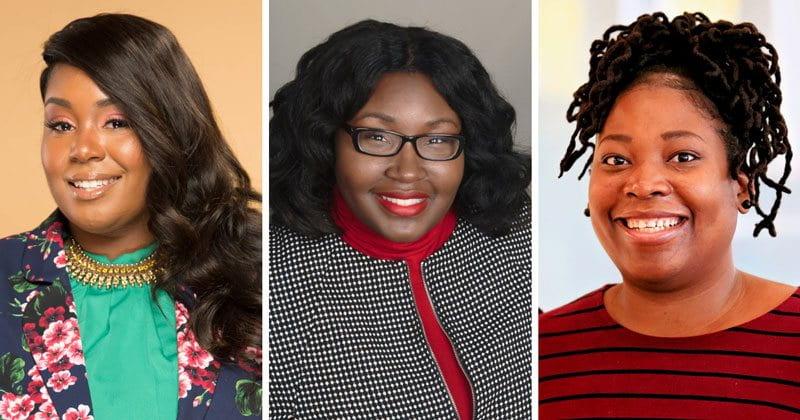 headshots of three women