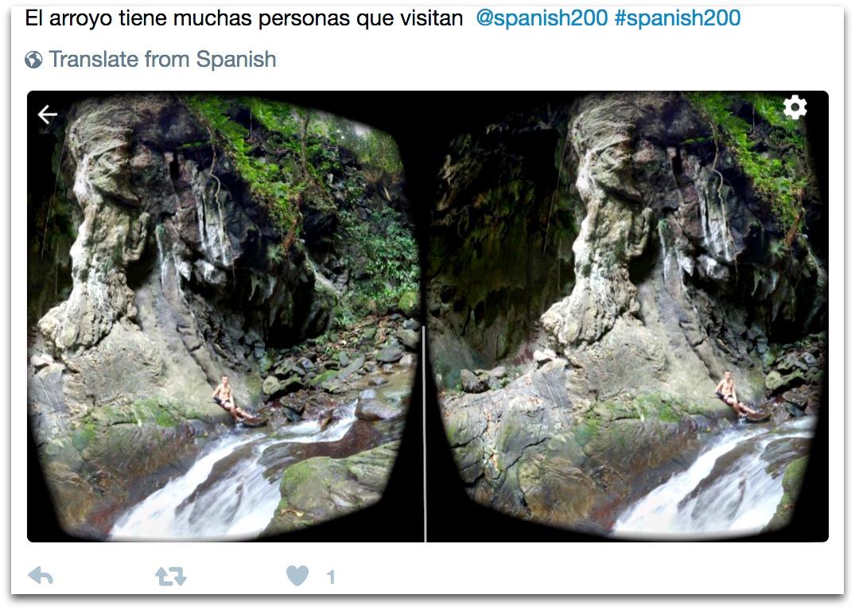 Sharing VR via Twitter
