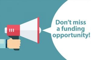 Bullhorn shouting Don't miss a funding opportunity!