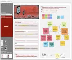 screenshot of miro whiteboard with student work