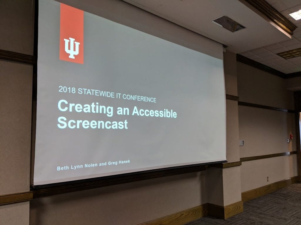 Opening slide from my presentation on Creating Accessible Screencasts