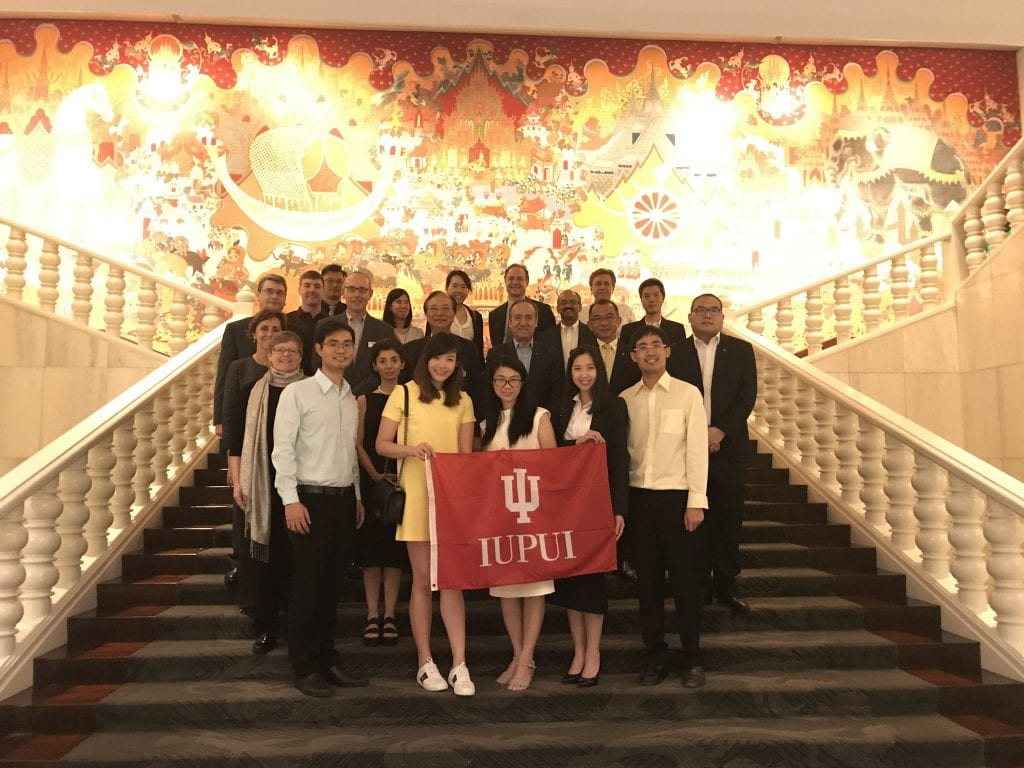 IU and IUPUI alumni gather for an evening reception in Bangkok, Thailand
