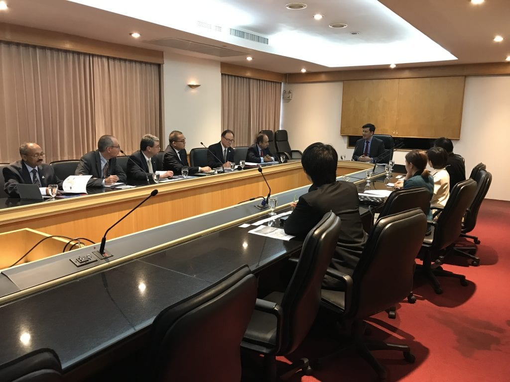 IUPUI delegation meets with colleagues from the Ministry of Science and Technology, October 10, 2018