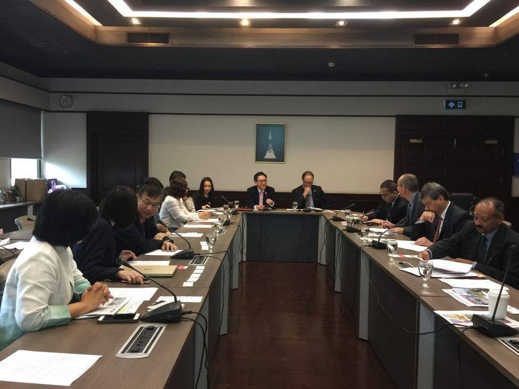 IUPUI delegation meets with colleagues at Chulalongkorn University in Bangkok, Thailand, October 11, 2018