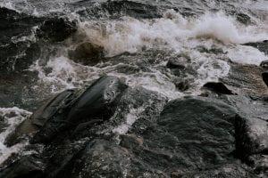 rough waves of the ocean