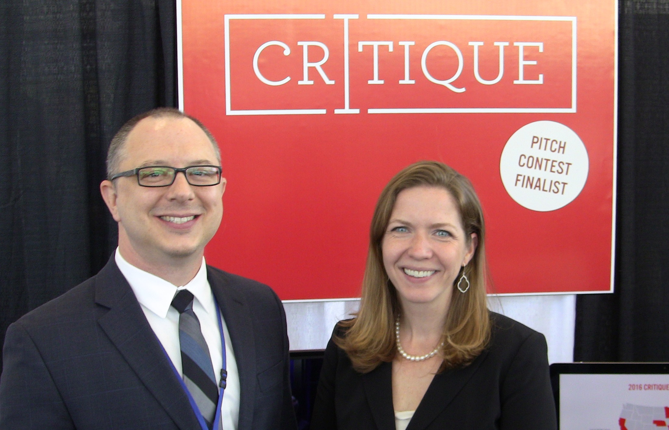 Co-founders Matthew Callison and Tiffany Roman of Critique.