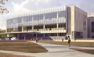 Rendering of the new Indiana University School of Dentistry building currently under construction.