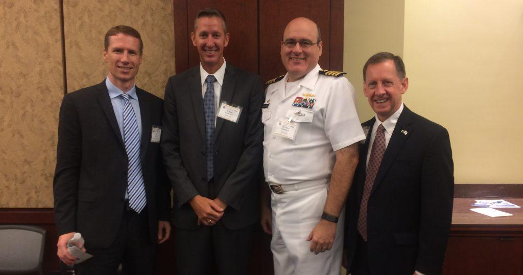 Joe Carley, Dr. Brett Seidle, Capt. Mark Oesterreich, Kirk White