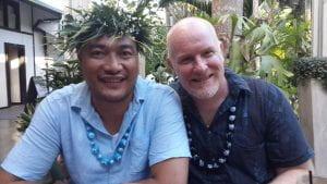 Photo of Paul Vasey and his partner, Alatina Ioelu.