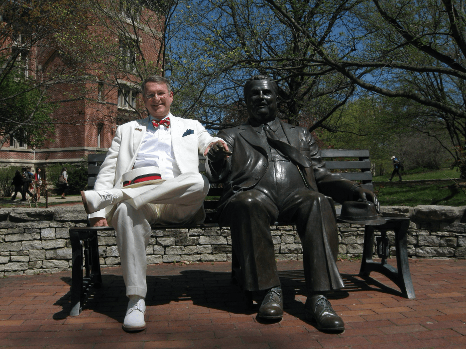 Dr. Eric Trefelner on a visit to Indiana University Bloomington campus.