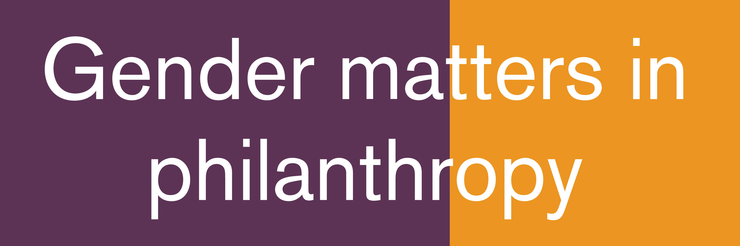 Gender matters in philanthropy