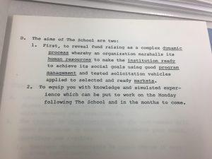 The Fund Raising School's aims in 1974