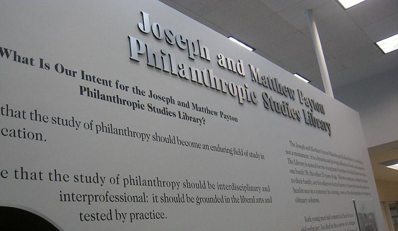 Joseph and Matthew Payton Philanthropic Studies Library