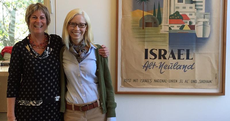 Ronit Segelman (left) with assistant professor of philanthropic studies Catherine Herrold