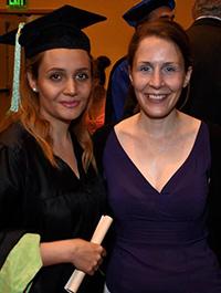 Afsoon (left) with fellow student Krisztina Tury