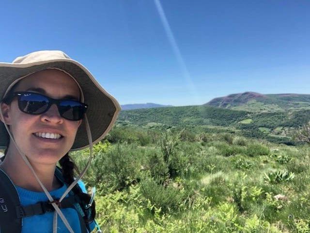 Anne Brock walking the Camino de Santiago
