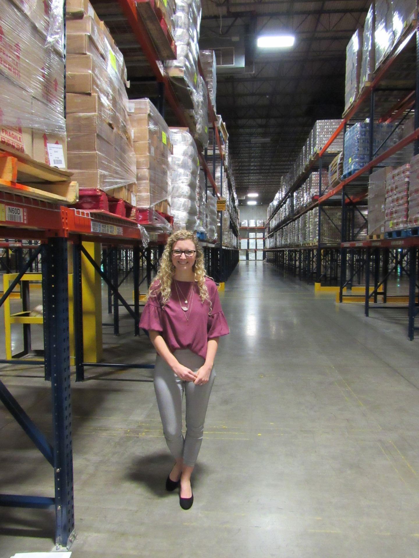 Jackson in Gleaner's warehouse.