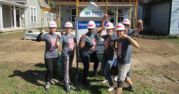 The Habitat for Humanity build team