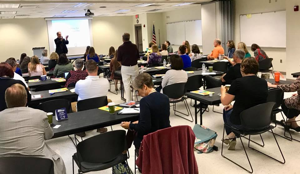 Bill Stanczykiewicz leads the first day of training for various Hendricks County nonprofits