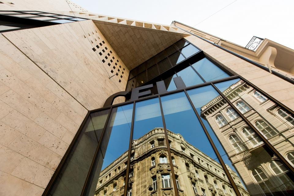 The facade of Central European University