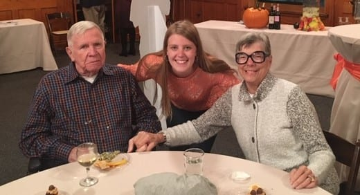 The author and her grandparents