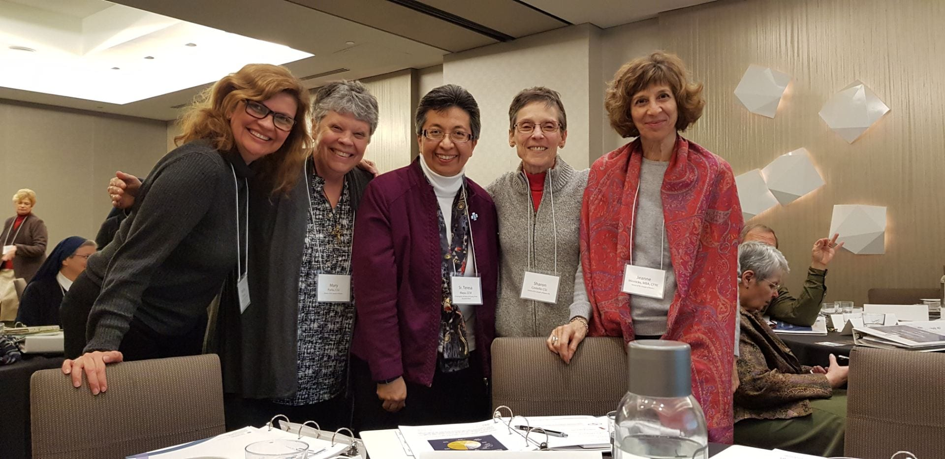 Sister Sharon Costello, second from right, with the Sisters of St. Joseph team and Sisters of Charity of the Incarnate Word team, at the initial workshop of Advancing Mission 2.0.