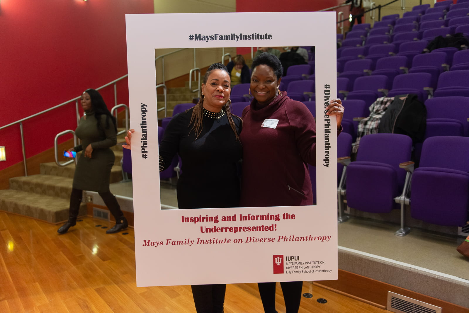 Coretta McAllister (l) with Susan Batten, CEO and President of ABFE and one of the speakers featured in the Diverse Speaker Series.