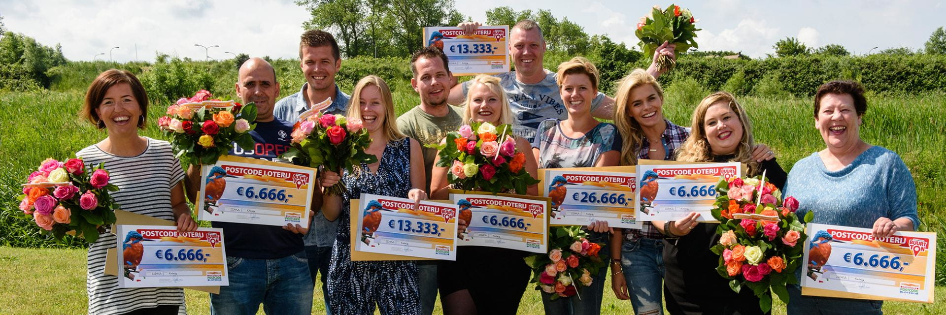 Winners of the National Postcode Lottery, courtesy of Novamedia and Roy Beusker.